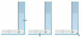De gauche à droite-modifiez la largeur-la hauteur ou les deux à la fois