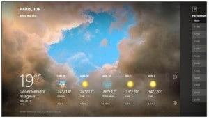 La météo détaillée de Windows 8.1