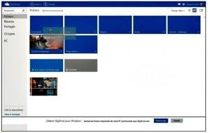 Pour déplacer des fichiers, vous devrez utiliser Internet Explorer