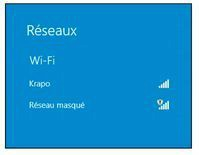 Windows liste les box Wi-Fi à portée