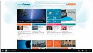 Internet Explorer ouvre la page du site MSN