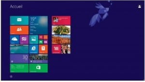 L'écran d'accueil de Windows 8.1