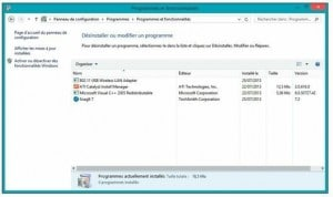 Le panneau de configuration de Windows 8.1