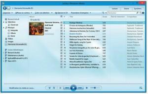 Sitôt le CD audio inséré dans le lecteur de CD-DVD, les morceaux sont lus