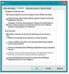 Windows 8 démarrera directement sur le Bureau
