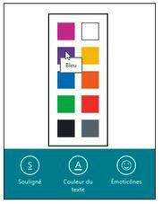 Changez la couleur du texte sélectionné