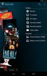 Cherchez les films et les séries installés sur votre appareil