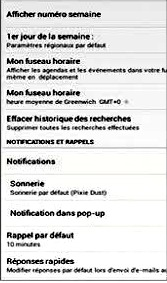 Parametrer les notifications d'évenements