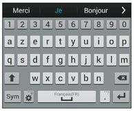 le clavier samsung