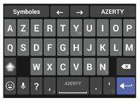 Le nouveau clavier apparait