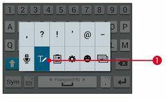 Saisir l'icône texte