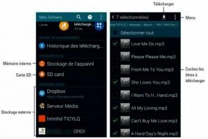 Copier de la musique en réseau avec l'application Mes fichiers