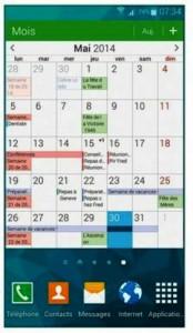 Afficher son agenda sur l'écran d'accueil