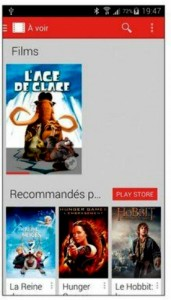 L'application Play Films