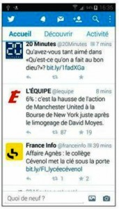 L'application Twitter