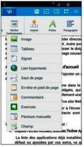 Insérer un objet dans un document Word