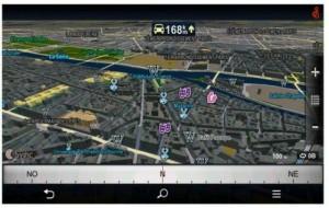 Le GPS est opérationnel (ici avec Sygic)