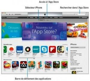 La partie de l'App Store réservée aux iPhone