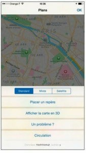Les commandes de l'application Plans