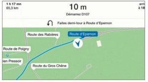 Plans est aussi un véritable GPS routier