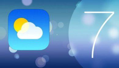 Application Metéo iPhone 6