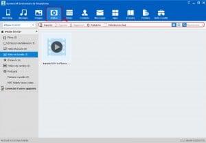 En cliquant sur Vidéo, vous pouvez importer,exporter,supprimer des vidéos.