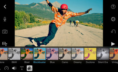 application photo iMovies pour mobiles