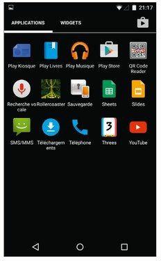 Un appui long sur une icône d'application permet d'en installer un raccourci sur l'écran d'accueil.
