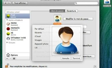 Image compte utilisateur Apple