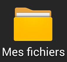 Le dossier MES fichiers sur Android