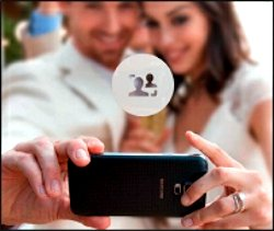 Ouvrez l'application Galerie et appuyez sur l'icône au centre de la photo pour modifier le focus