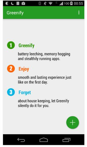 Application Greenify