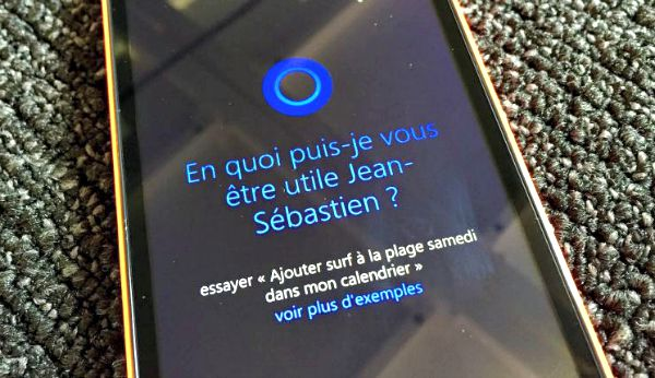 L'assistant vocal Cortana