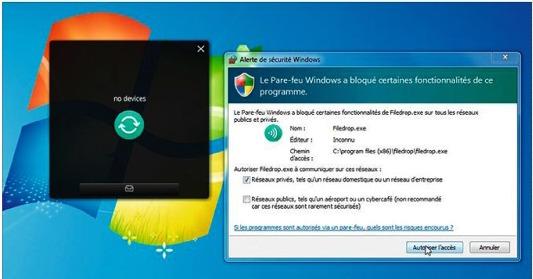 Transférer des fichiers sans fil, sans, clé et sans cloud avec Filedrop