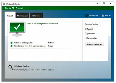 Demandez à Windows Defender d'analyser maintenant votre ordinateur