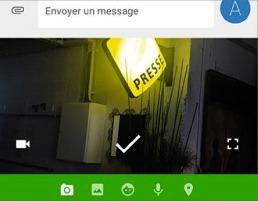 Ajouter une image avec l'appli Messenger