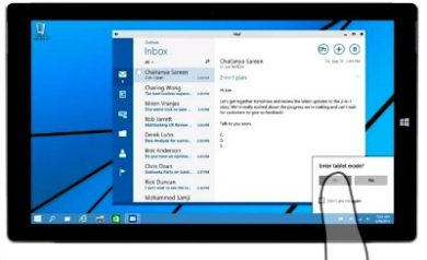Le Mode Tablette Windows 10