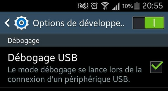 Débogage USB