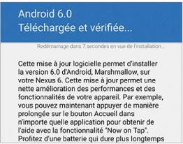 Lancer l'installation d'Android 6