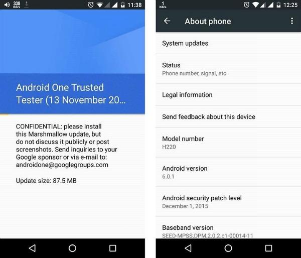 mise à jour Android disponible