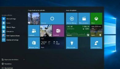 Bureau Windows 10 image à la une