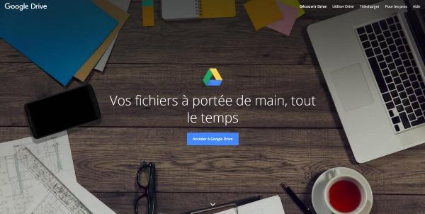 Créer un compte Google Drive