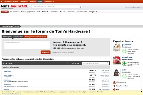 le forum tom's hardware