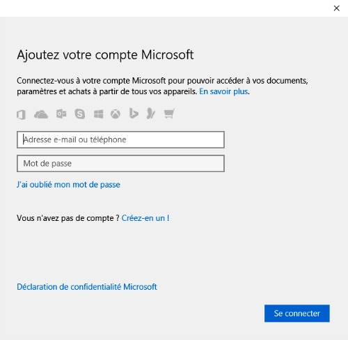 Compte microsoft pour one drive