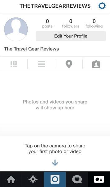 Le profil d'instagram