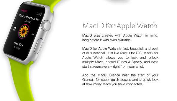 MacID pour l'Apple Watch