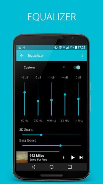 Améliorer l'écoute des chansons avec l'égaliseur de l'appli Pixel Music Player