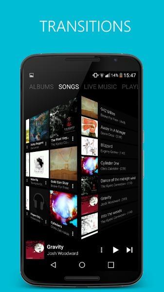 Choisir un titre avec pixel music player