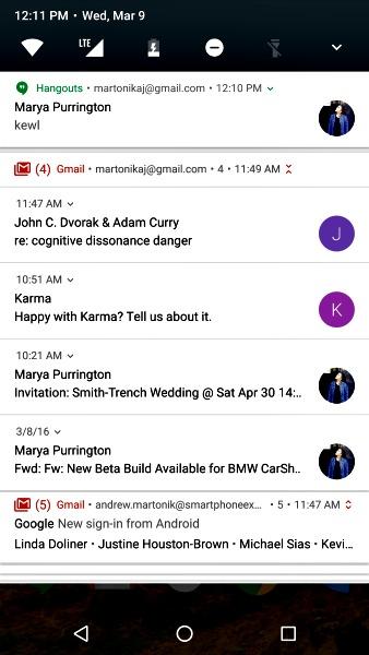 Les nouvelles notifications d'Android 7 Nougat