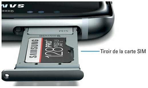 Tiroir de la carte SIM du Galaxy S7 (source Samsung)